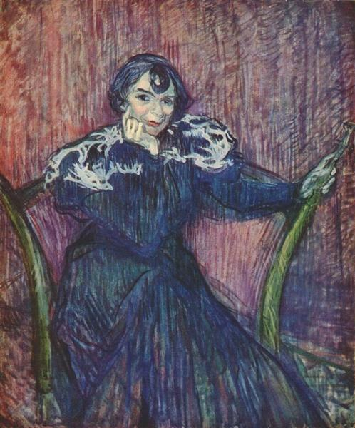 Portrait of Berthe Bady, 1897 - Henri de Toulouse-Lautrec