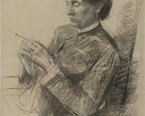 Portrait of Madame la Comtesse Adèle de Toulouse Lautrec - Henri de Toulouse-Lautrec