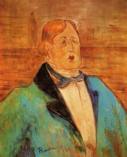 PortraitofOscarWilde, 1895 - Henri de Toulouse-Lautrec