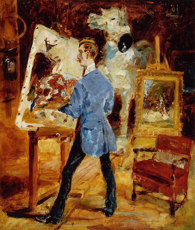 Princeteau in His Studio, 1881 - Henri de Toulouse-Lautrec