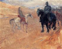 Two Knights in Armor - Henri de Toulouse-Lautrec
