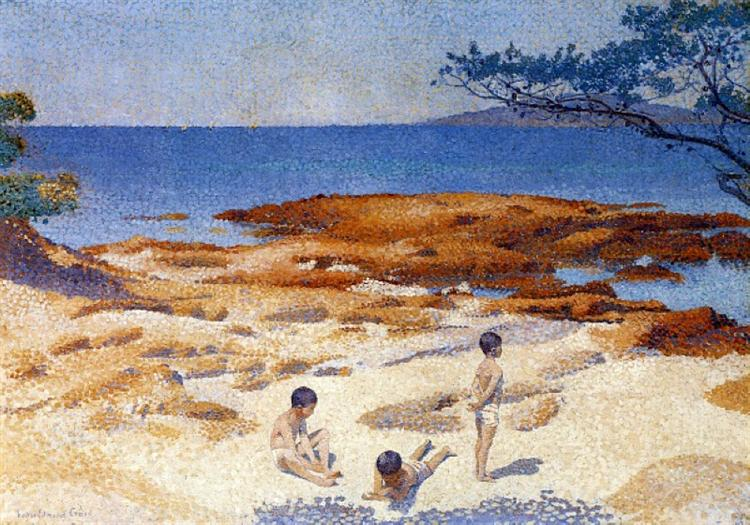 Beach at Cabasson - Henri-Edmond Cross
