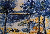 Pines by the Sea - Henri-Edmond Cross