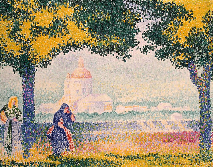 View of the Church of Santa Maria degli Angeli, near Assisi, 1909 - Henri-Edmond Cross