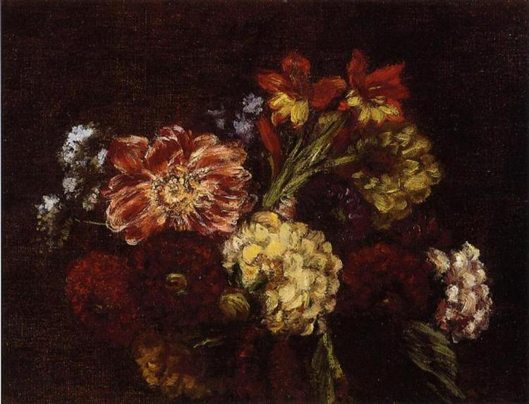 Flowers Dahlias and Gladiolas, 1879 - Henri Fantin-Latour