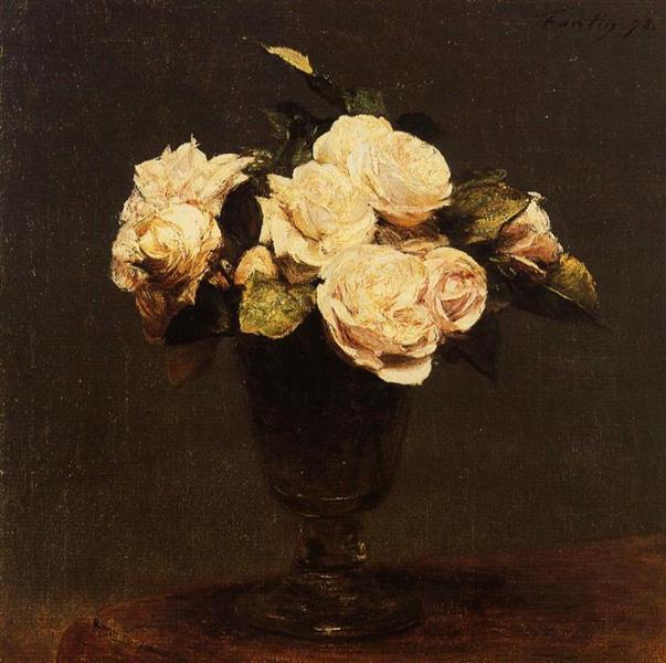 white roses henri fantin latour encyclopedia of visual arts. Black Bedroom Furniture Sets. Home Design Ideas
