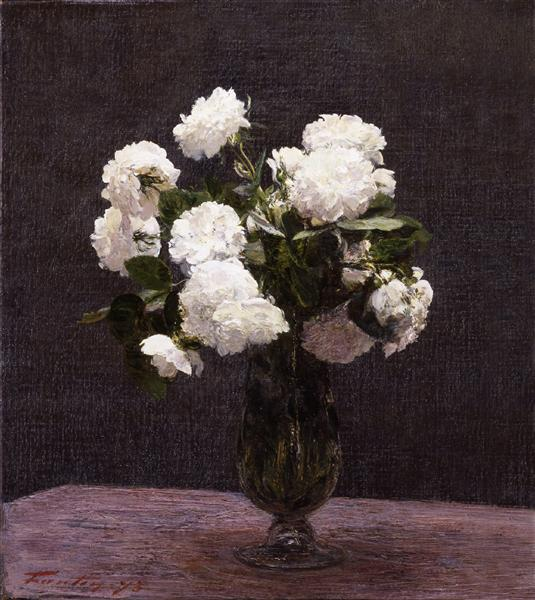 White Roses, 1875 - Henri Fantin-Latour