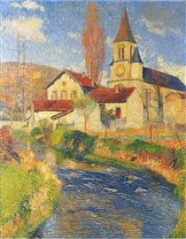 Church by the River - Henri Martin