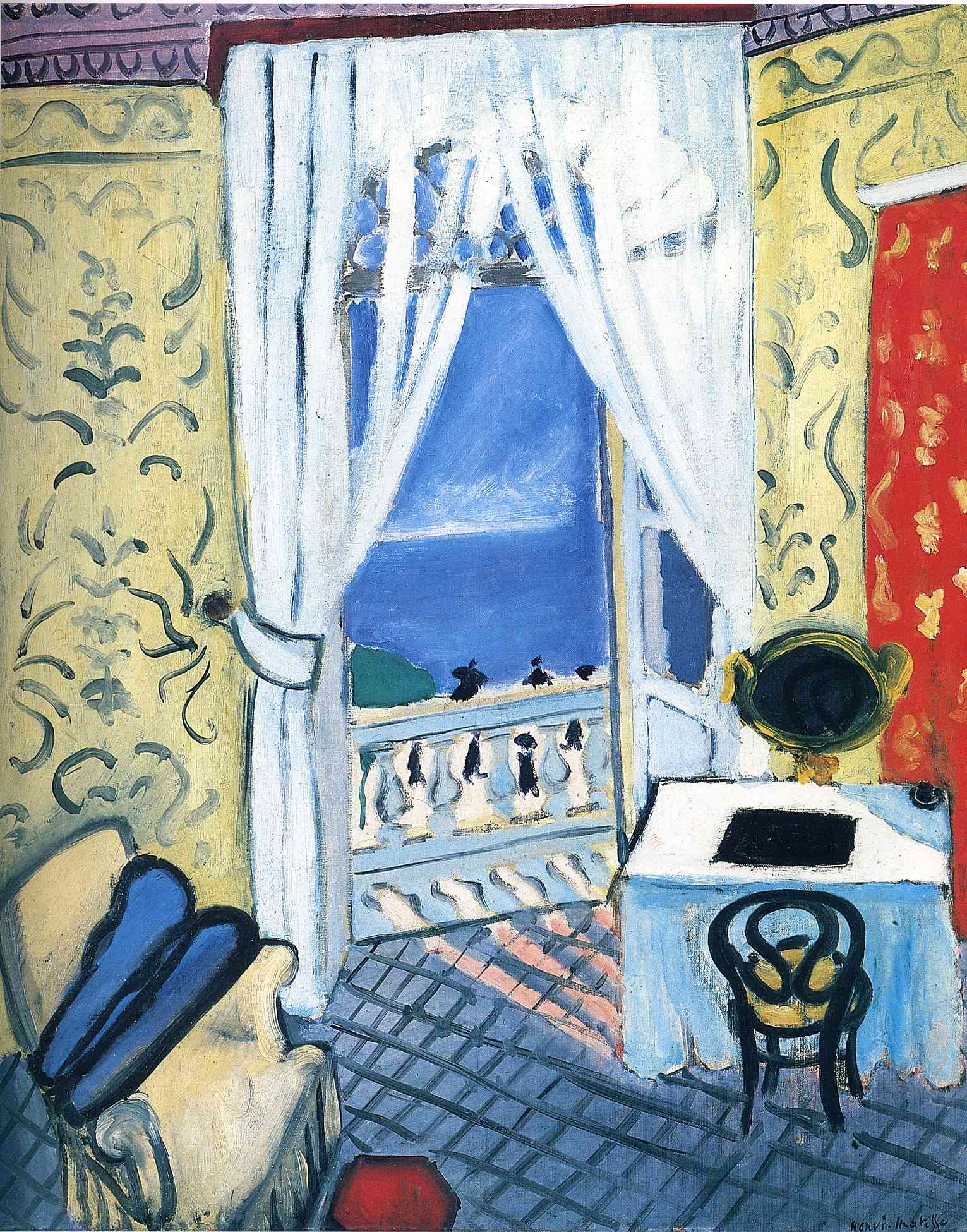 Interior with a violin case 1919 henri matisse for Matisse fenetre