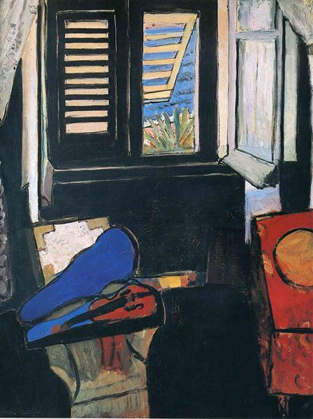 Interior with a Violin, 1917 - 1918 - Henri Matisse