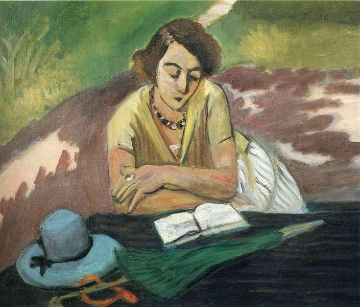 Reading Woman with Parasol, 1921 - Henri Matisse