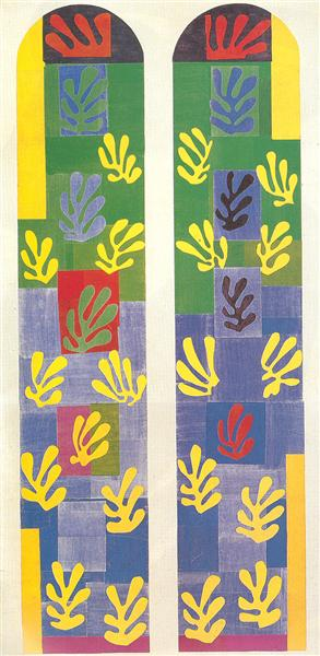 Stained Glass Window Window of the abside of the Rosary Chapel, 1949 - Henri Matisse