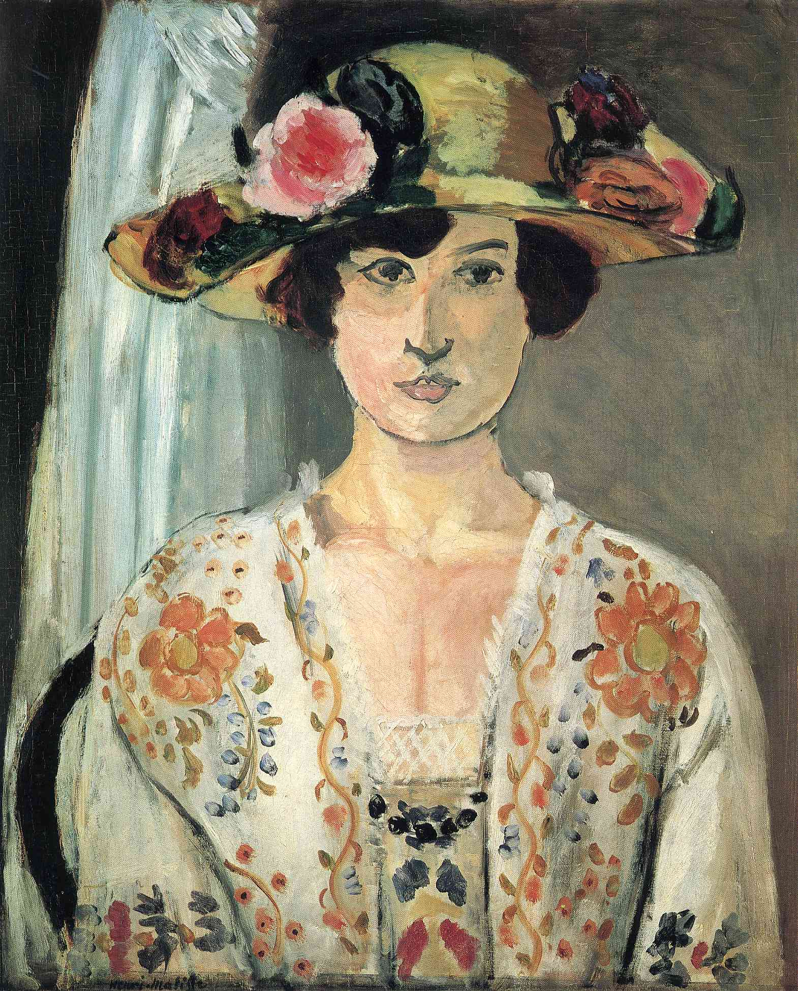 Woman in a Hat - Henri Matisse - WikiArt.org ...