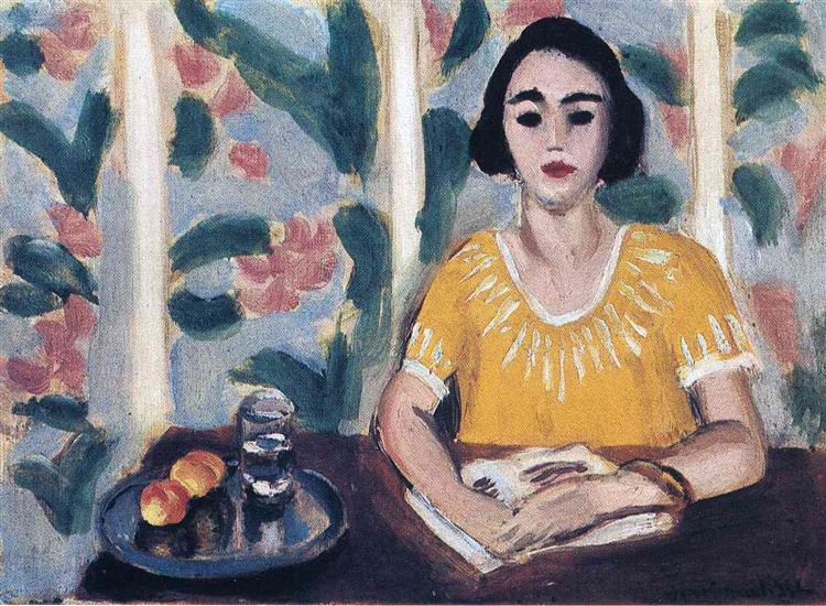 Woman Reading with Peaches, 1923 - Henri Matisse - WikiArt.org