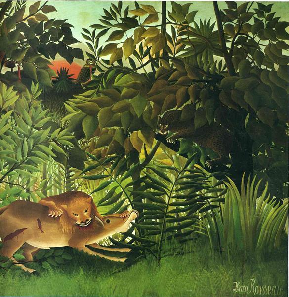 A Lion Devouring its Prey, 1905 - Henri Rousseau