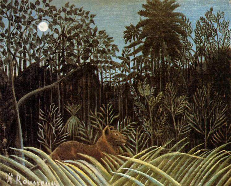 Jungle with Lion, 1904 - 1910 - Henri Rousseau