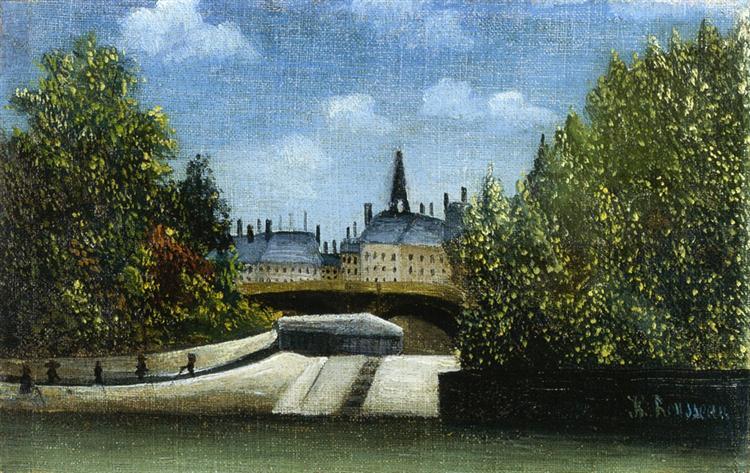 Ile de la Cite, 1890 - 1900 - Henri Rousseau