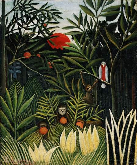Landscape with Monkeys, 1908 - Henri Rousseau