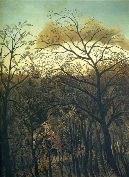 Rendez Vous en el bosque - Henri Rousseau