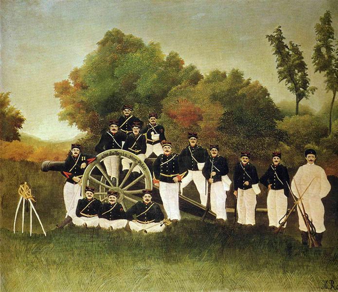 Los artilleros - Henri Rousseau