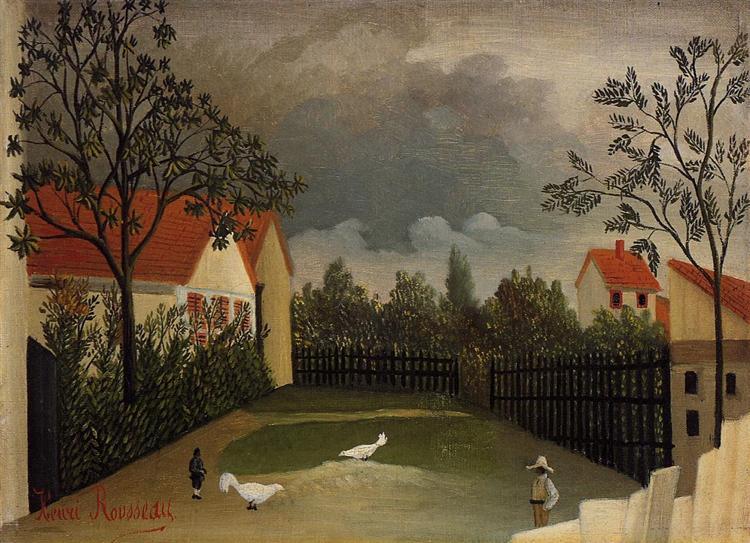 The Poultry Yard, 1896 - 1898 - Henri Rousseau