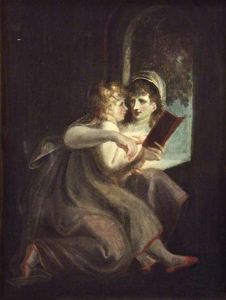 Milton When a Boy Instructed by His Mother, 1800 - Johann Heinrich Füssli