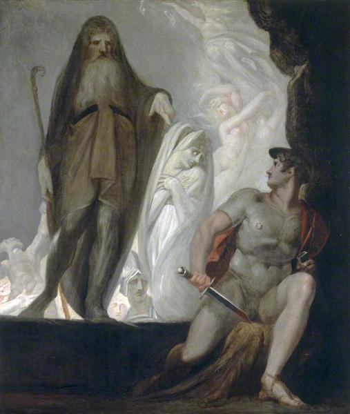 Tiresias predice el futuro a Odiseo - Henry Fuseli