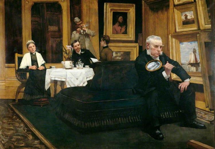 The Connoisseur, 1887 - Henry Herbert La Thangue