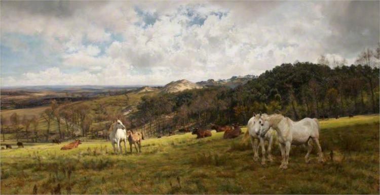 A Gleamy Day in Picardy - Henry William Banks Davis