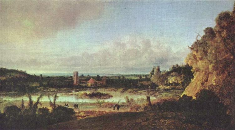 Panoramic landscape, c.1625 - Hercules Seghers