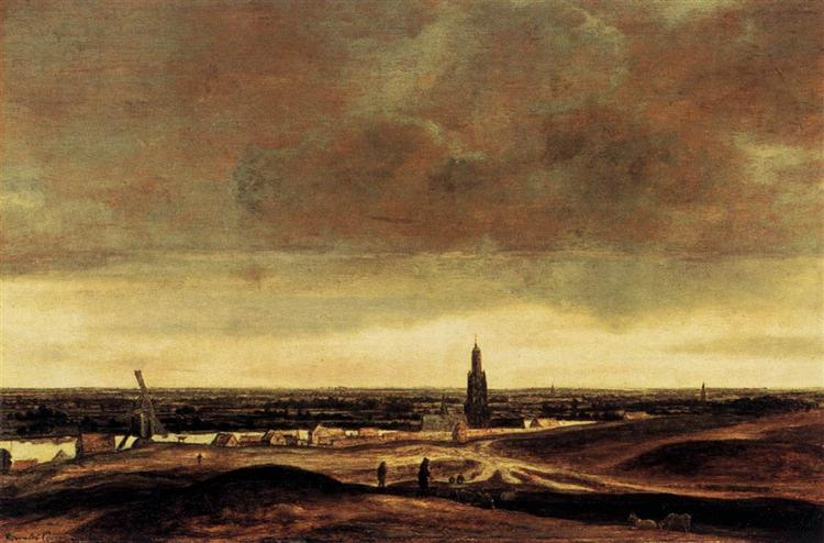View of Rhenen, 1625 - 1630 - Hercules Seghers