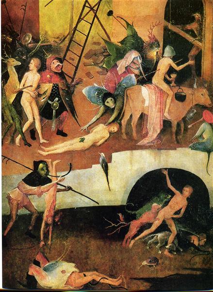 Heuwagen-Triptychon, 1515 - Hieronymus Bosch