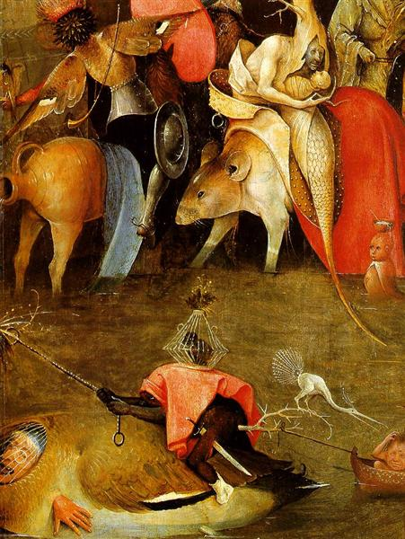The temptation of St. Anthony, c.1500 - Hieronymus Bosch