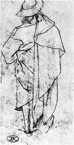 Sketch of a man - Hieronymus Bosch