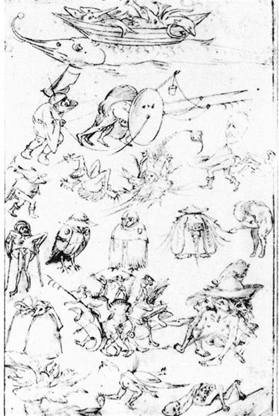 Studies of Monsters - Hieronymus Bosch