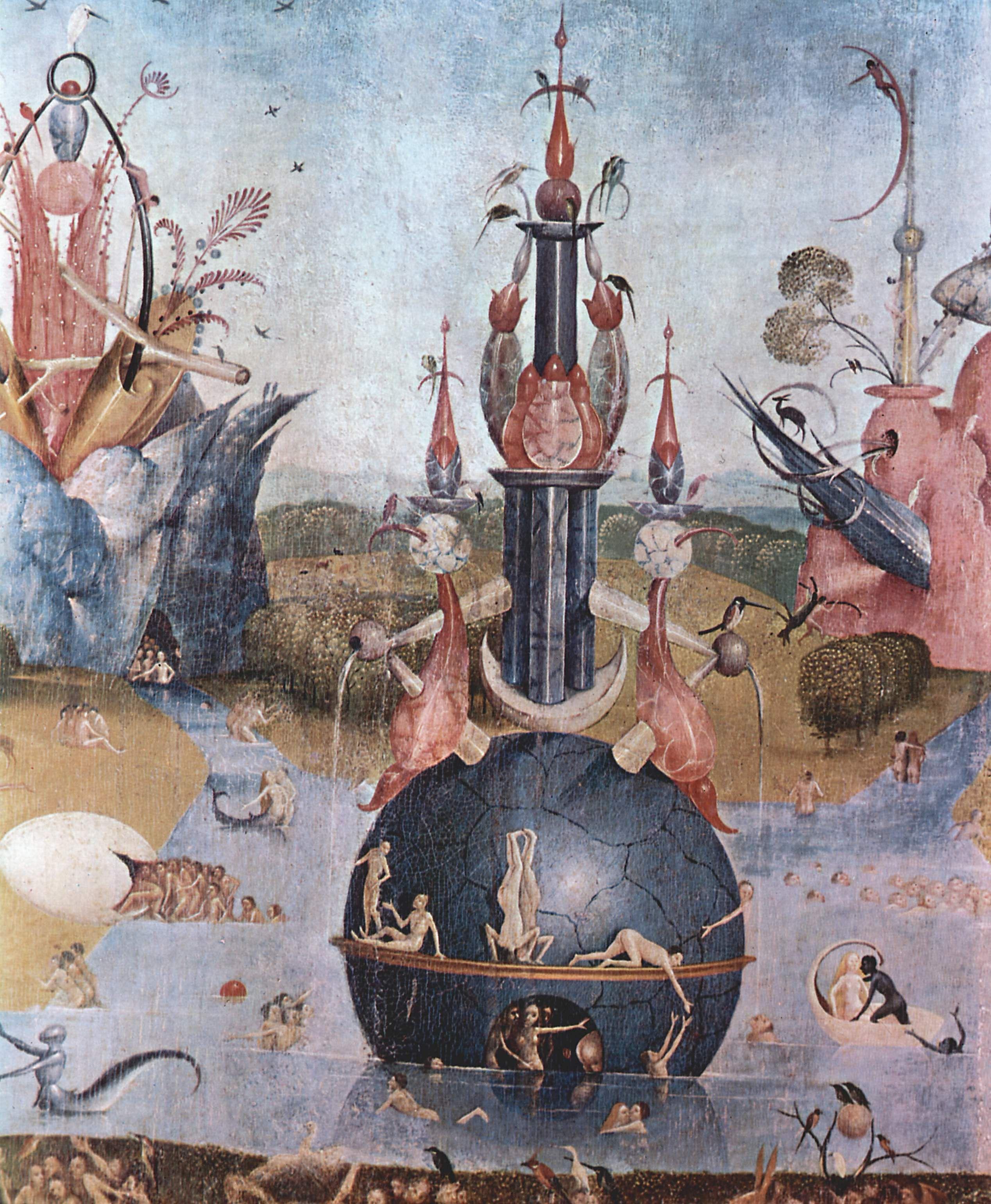 The garden of earthly delights detail 1460 1516 - Il giardino delle delizie bosch ...
