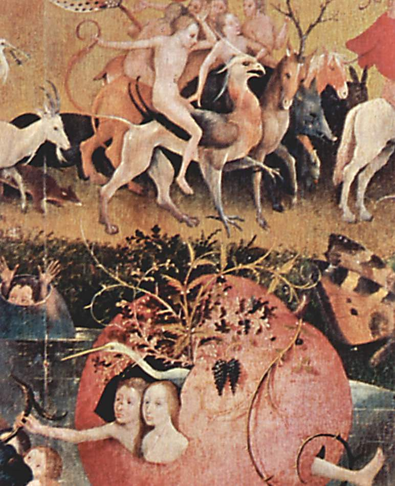 The garden of earthly delights detail 1460 1516 hieronymus bosch for The garden of earthly delights