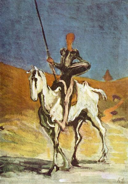 Don Quixote and Sancho Pansa, c.1865 - c.1870 - Honore Daumier