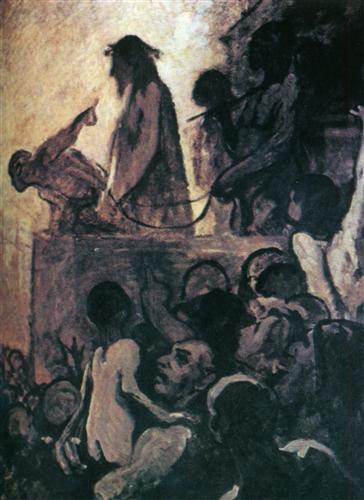 We want Barabbas (Ecce Homo) - Honore Daumier