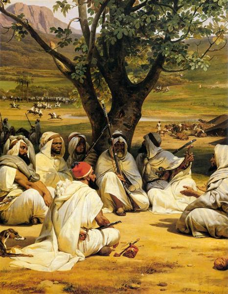 Arab Chieftains in Council (The Negotiator), 1834 - Horace Vernet