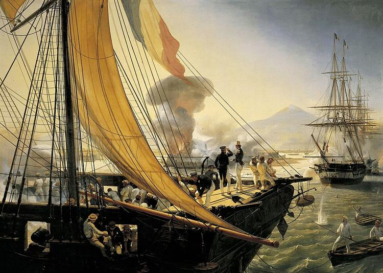 Scene from the Mexican Expedition in 1838, 1841 - Horace Vernet