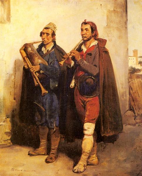 Village Musicians, 1832 - Horace Vernet