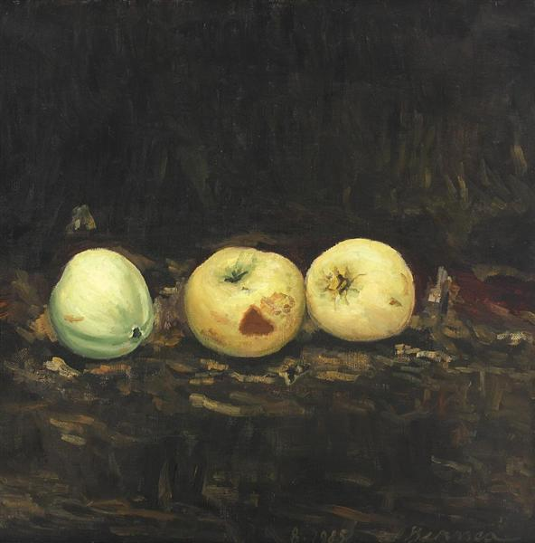 Still Life with Apples (Food), 1985 - Horia Bernea