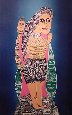 Cow Lady, 1994 - Howard Finster