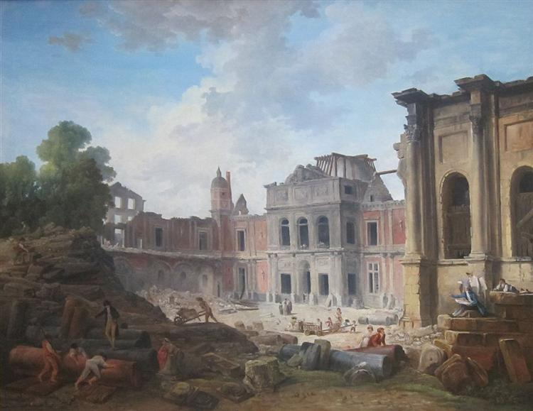 Demolition of the Château of Meudon - Hubert Robert