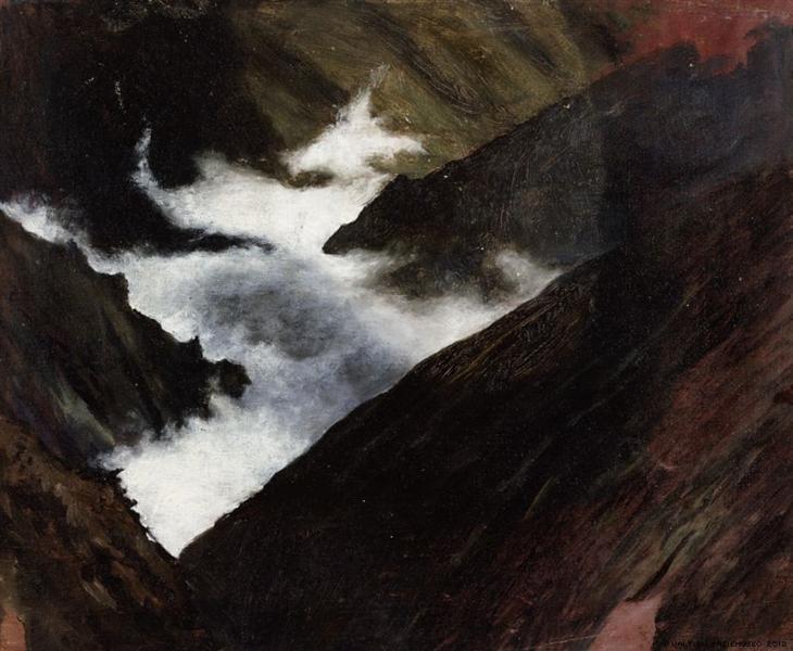 Mountain Stream in Caucasia, 1899 - Hugo Simberg