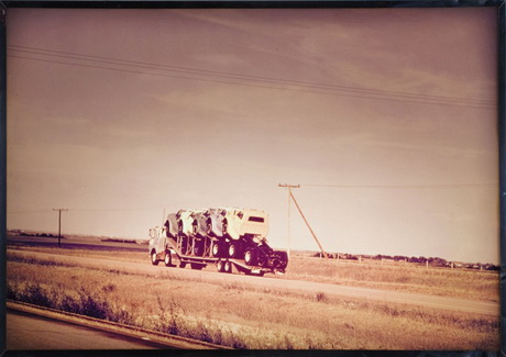 Still Life with 6 Trucks, Highway 1, Saskatchewan, 1968 - Iain Baxter&