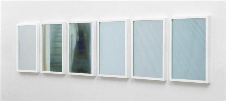 1-6 glass / mirror piece, 1967 - Ian Burn