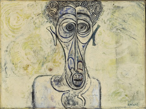 Self-Portrait of Suffering, 1961 - Ibrahim Salahi