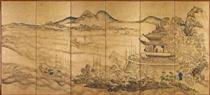 Landscape with Yueyang Tower - Ike no Taiga